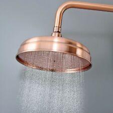 8 inch Round Antique Red Copper Bathroom Rainfall Shower Head  Lsh054
