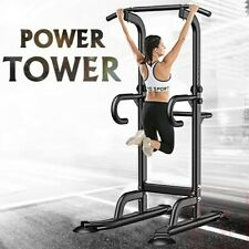 Adjustable Power Tower Pull Up Dip Station Home Gym Workout Strength Training