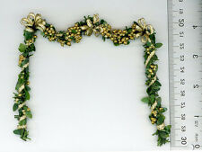 Dollhouse Miniature Artisan Holiday Fireplace Garland