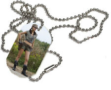 Rosita, The Walking Dead, 1 x ID Dog Tag  With Bead Necklace
