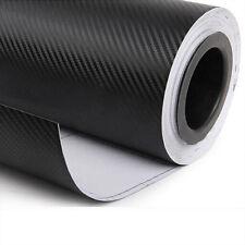 "DIY 3D 20""x 50"" Black Carbon Fiber Vinyl Car Wrap Sheet Roll Film Sticker Decor"