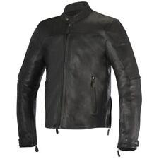 Blousons noirs Alpinestars en cuir pour motocyclette