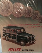 Print Ad of 1951 Willys - Encapsulated In Plastic Many Years Ago For Protection!