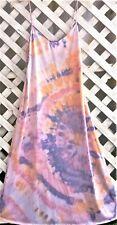 Vassarette Fab 70'S Look Tie-Dyed X-Long Nylon Slip-Gown