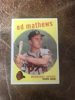1959 TOPPS #450 ED MATHEWS HOF MILW BRAVES— CREASE FREE💥*** (wph)