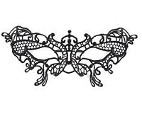 Ladies Black Lace Masquerade Ball Mardi Gras Carnival Fancy Dress Eye Mask