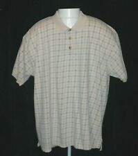 Eddie Bauer Mens XL Beige Short Sleeve 100% Cotton Casual Dress Polo Shirt