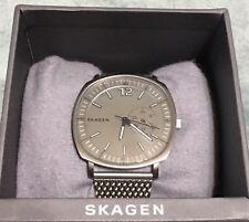 Skagen Men's Rungsted SKW6255 Silver Stainless-Steel Slim Watch Mesh Band
