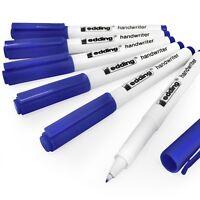 Edding Handwriter Handwriting Pen – Blue Ink – 0.6mm - Pack of 6