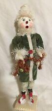 "Vintage Antique 13"" Ooak Handmade snowman Christman Character"