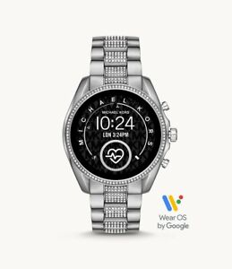 Michael Kors Bradshaw Gen 5 Silver Tone Glitz Touchscreen SmartWatch MKT5088