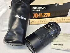 vintage osawa Mark II.   70MM F4 F5 210 Macro Camera Lense