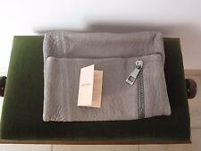 Superbe sac  pochette Gérard Darel Alba grise
