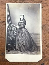 1860s photograph of a lady ! flowing dress ! london