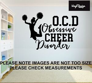 Cheerleader vinyl wall art quote for childrens bedroom or wall sticker