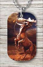 CENTAUR GREEK MYTHOLOGY DOG TAG NECKLACE bn87yg