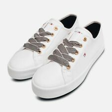 Tommy Hilfiger White Canvas Nautical Style Sneaker Shoe