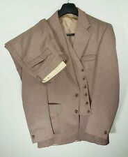 VTG 1960's 1970's 1980's Solid Brown Mens Size 42R  34X31 Western 3 Piece Suit