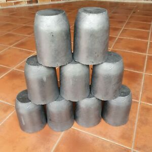 8KG Casting Clay Graphite Crucibles Melting Copper Gold Silver Brass Aluminum