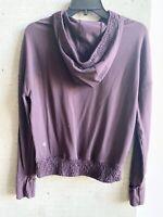 Lululemon Purple Scuba Jacket Shirt Top Hoodie Hooded Yoga Size 6