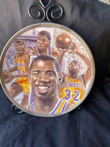 collectible plate Magic Johnson platinum Edition