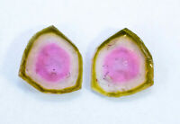 MP02-361 , 3.55 cts Top Quality Natural Watermelon Tourmaline Slices Pair