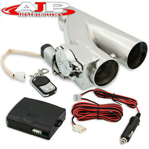 """2.5"""" 63mm Remote Electric Exhaust Catback Downpipe Cutout Cut Out Valve System"""