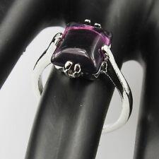 Amethyst Gemstone Fashion  Jewelry 925 Silver Men Women Ring Size 6