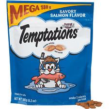 Whiskas Temptations Treats for Cats Mega BAG SAVORY SALMON FLAVOR 6.3 OZ 180g