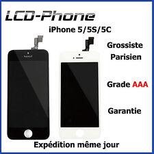 VITRE TACTILE IPHONE 5S / 5C / 5 + ECRAN LCD SUR CHASSIS- Grade AAA PRIX EN GROS