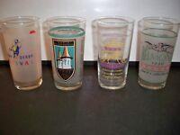 4 GLASSES, DERBY TRIPLE CROWN, BELMONT STAKES, DERBY FESTIVAL, BREDDERS CUP GLAS