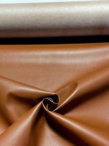 "Outdoor Boat Automotive Upholstery Medium Brown Vinyl Fabric Marine 15 Feet 54""W"