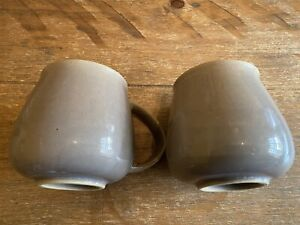 DENBY TRUFFLE 2 x LOVELY TEA COFFEE MUGS BROWN
