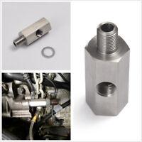 1/8''NPT Oil Pressure Sensor Tee to Adapter Turbo Feed Gauge M10X1.0 Male&Female