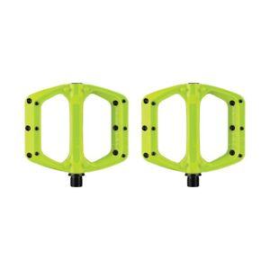Flat Pedals Set Spoon DC Lime Green SPANK flat bike pedals
