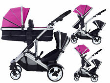 Kids Kargo Duel DS Double single pushchair pram tandem carrycot travel system