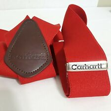 Carhartt Men's Red Utility Work Suspenders New