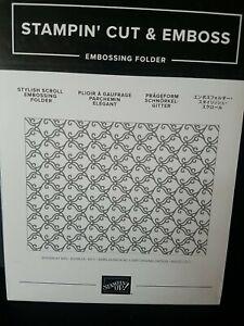 Stampin Up Stylish Scroll Embossing Folder