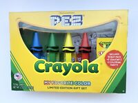 LOOSE BUT NEW SAVE ON SHIPPING CRAYOLA PEZ SET OF 4 BLUE GREEN YELLOW RED