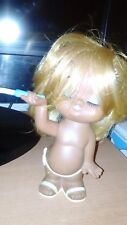 Vintage Rubber Doll Holiday Fair With Cigarette Blonde Made in Japan Rare