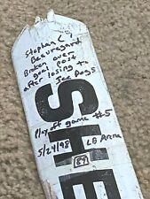 """Stephane Beauregard Chicago (Ihl) """"Playoff Rage"""" 1/2 Sherwood Game Used Stick"""