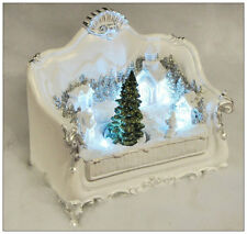 Shabby Chic Light Up White Christmas Wonderland Novelty LED Christmas Decoration