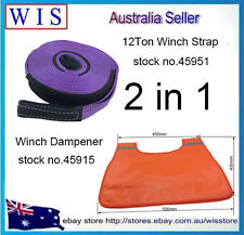 2 in 1 Set Snatch Strap 60mm x 8m  & Winch Cable Damper Blanket