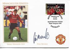 Manchester United Football cover 1999 AUTOPEN SIGNATURE Phil Neville