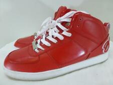 Cadillac Crown red lace up hi top sneakers kicks hip hop Shoes mens sz 10.5 44.5