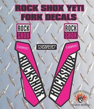 ROCK SHOX YETI FORK Stickers Decals Graphics Mountain Bike Down Hill MTB PINK