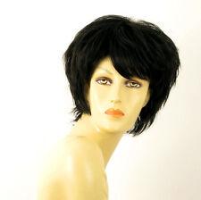 perruque femme 100% cheveux naturel courte noir ref TINA 1b