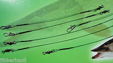6 fili Trace per spinning per luccio, Zander, Pesce Persico, MARE ESCA DA PESCA Spinner Cucchiaio