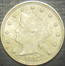 SEMI KEY 1912 LIBERTY NICKEL BU,MS,MS,UNC HIGH GRADE BLAST WHITE QUALITY COIN!!!
