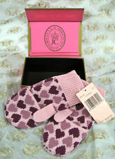 JUICY COUTURE KIDS BOXED HEART POP TOP MITTENS NWT $38